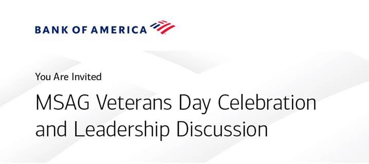 Bank of America Veterans Day Discussion