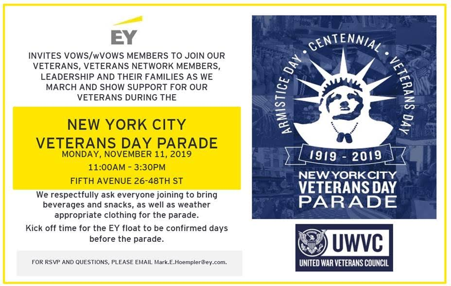 EY Veterans Day Parade