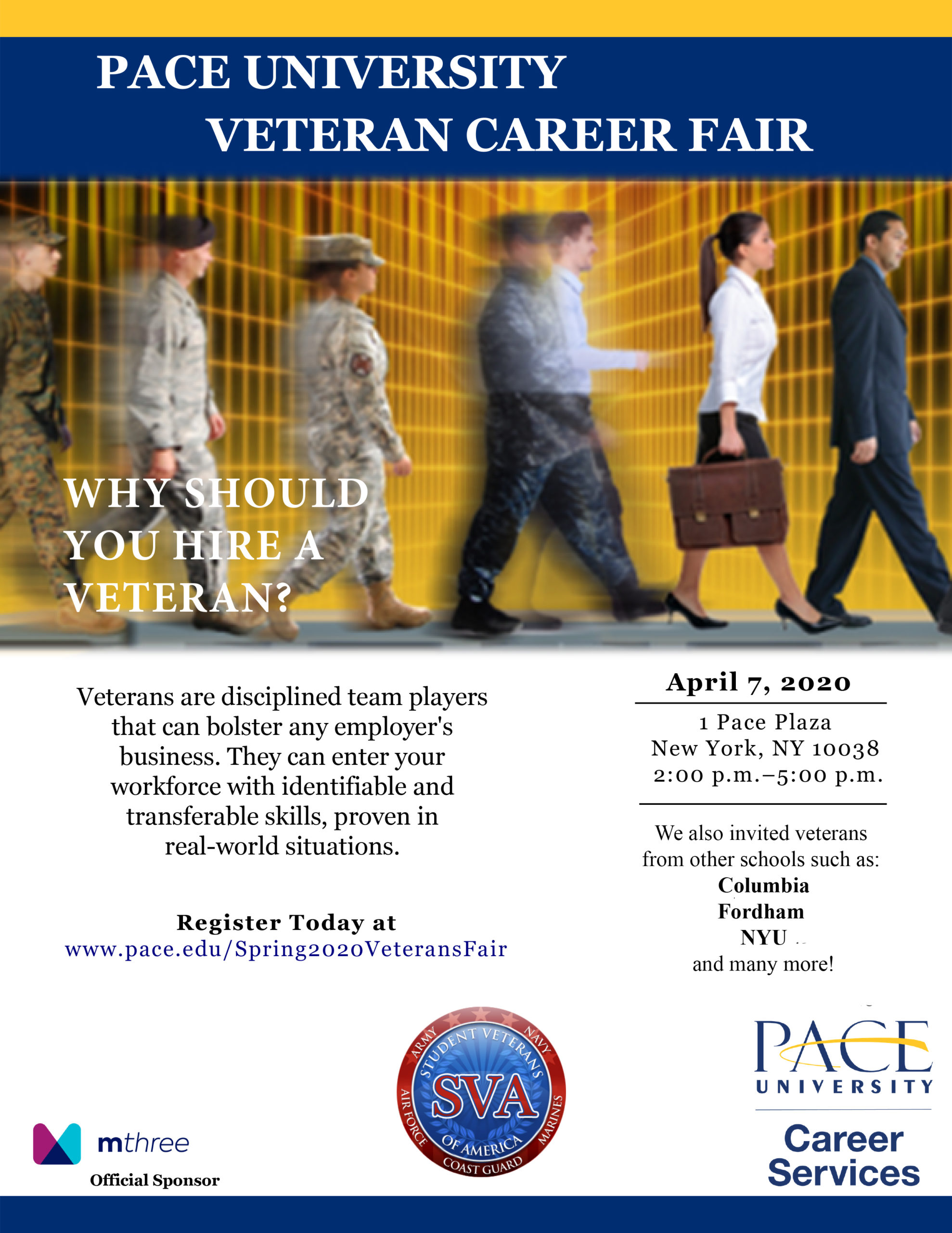 Pace University Veterans Career Fair
