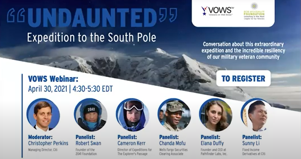 Undaunted Expedition to the South Pole: A VOWS Panel Event
